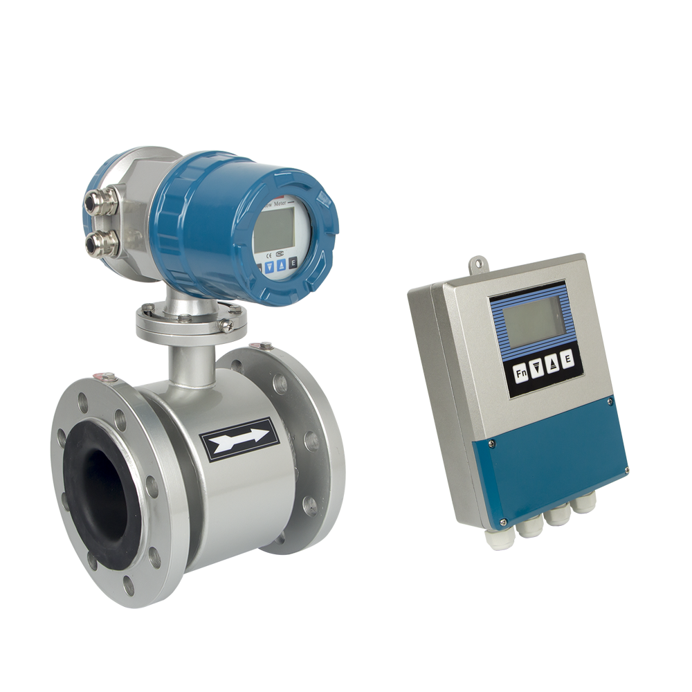 Magnetic flow meter with digital display for water