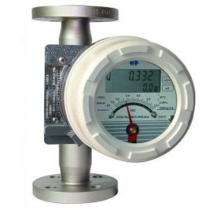 Metal tube rotameter with digital display for water measurement