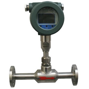 Thermal mass flow meter for gas flow measurement