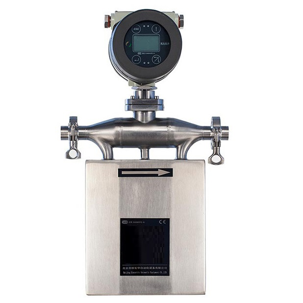 Coriolis flowmeter to be used as digital mass flow meter for natural gas